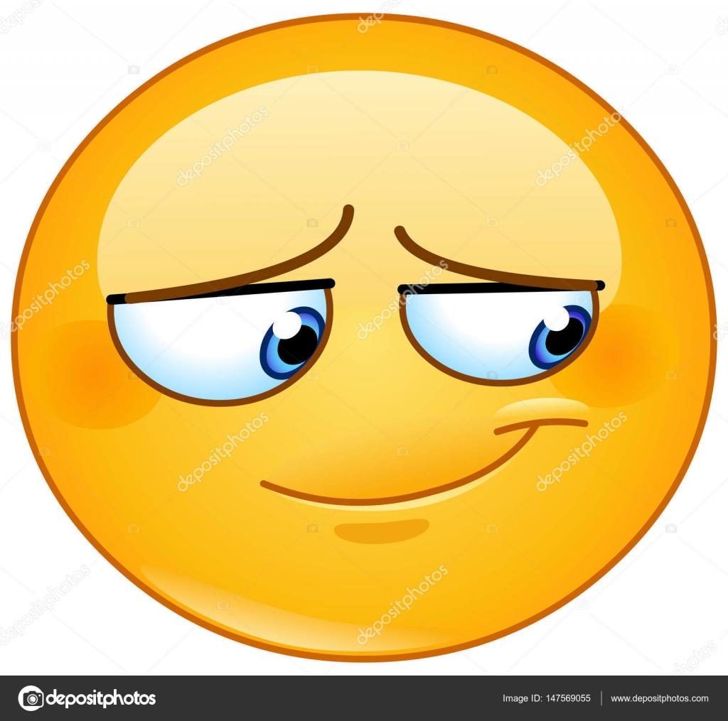 Illustrazione Emoji Imbarazzato Emoticon Sorriso