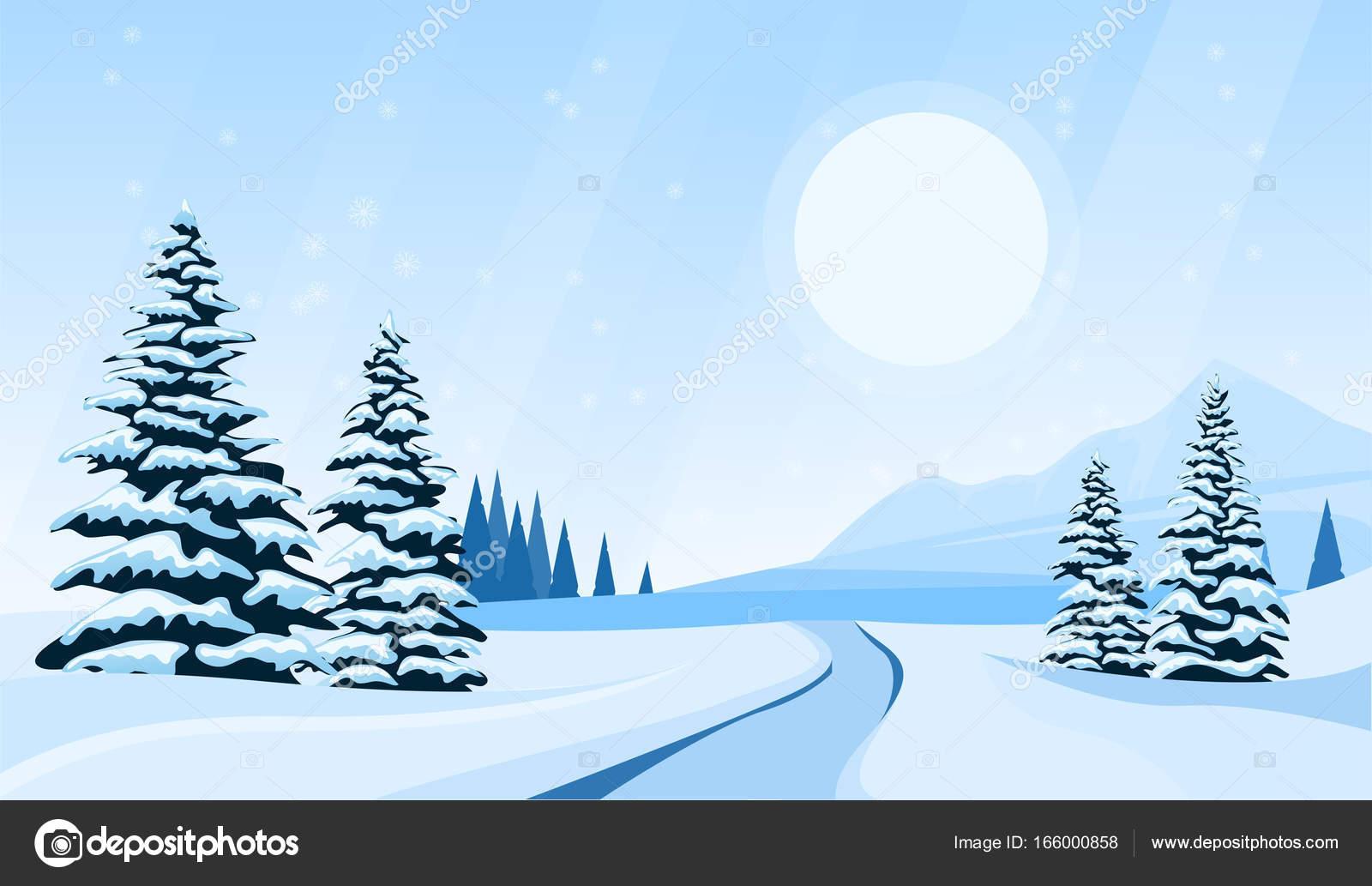 paisaje de invierno Resumen — Vector de stock © Zybr78 #166000858