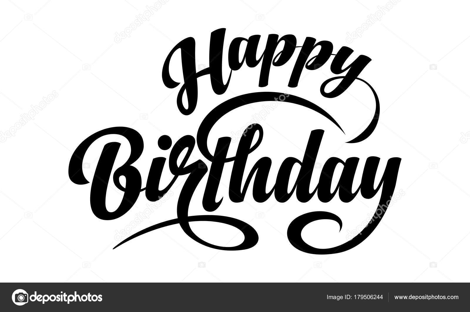 happy birthday text stock vector zybr78 179506244