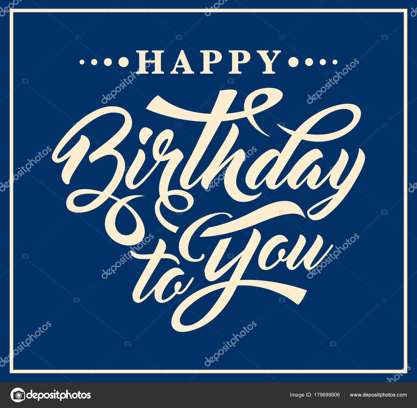 Hartelijk Gefeliciteerd Met Je Verjaardag Kalligrafische Tekst