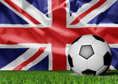 Flag of United Kingdom and soccer ball
