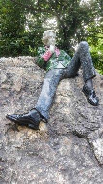 Oscar Wilde monument in Merrion Square Park, Dublin, Ireland