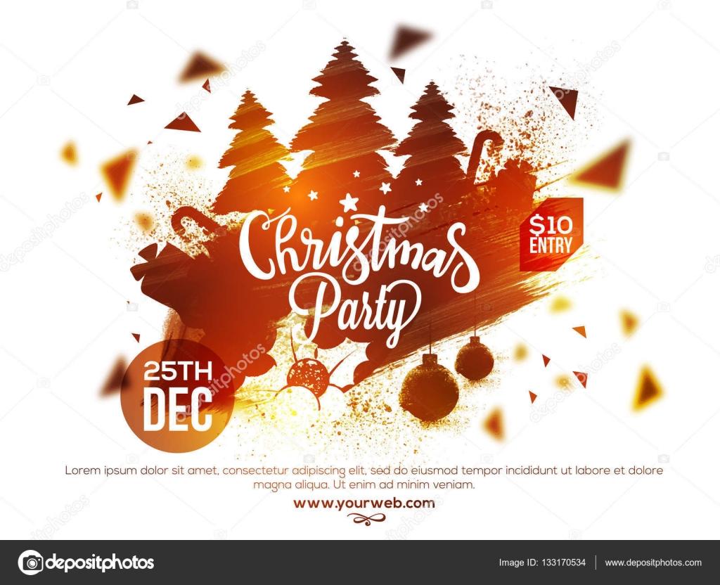 Christmas Party Poster.Christmas Party Poster Banner Or Flyer Design Stock