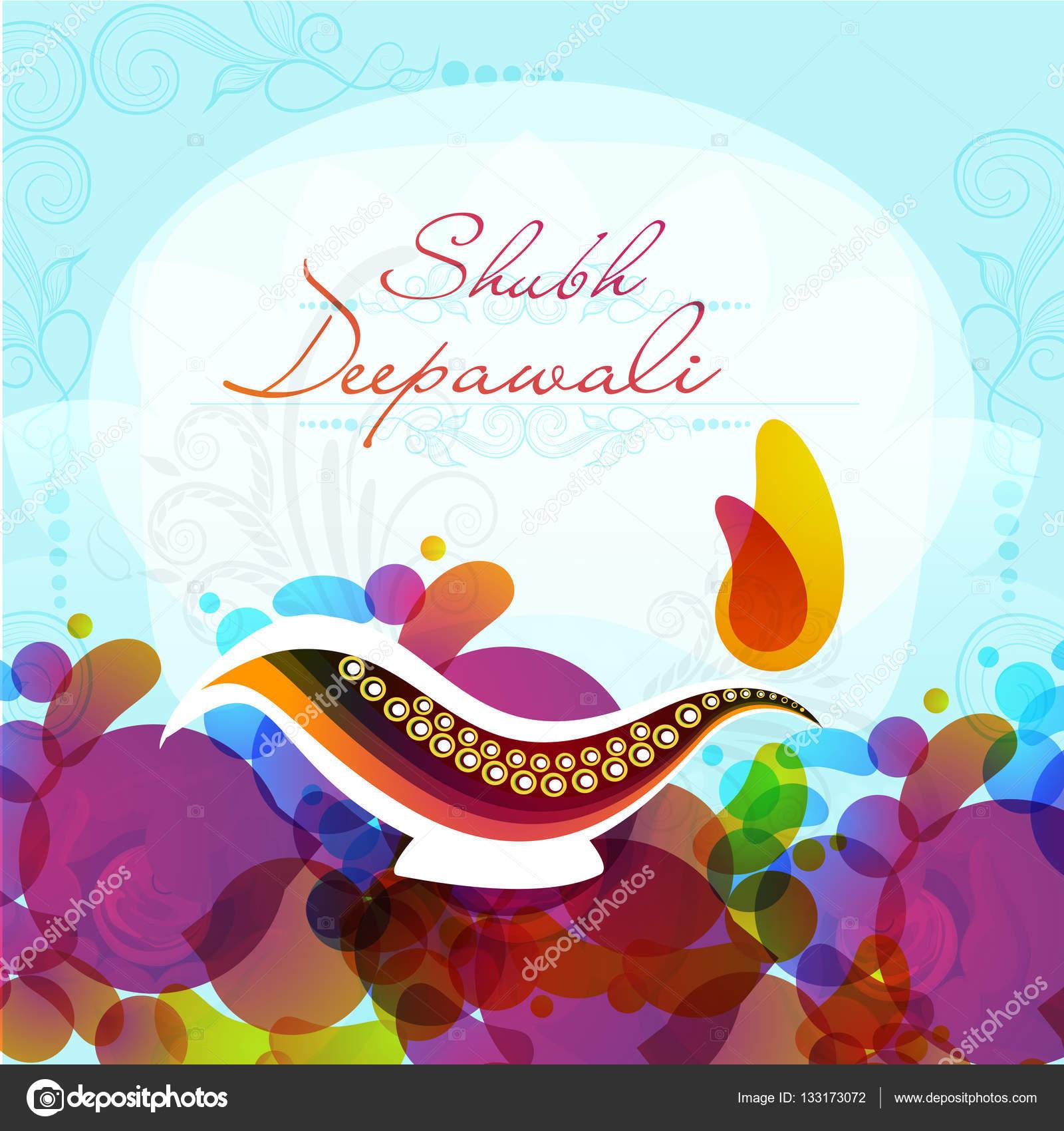 Greeting Card For Happy Diwali Celebration Stock Vector