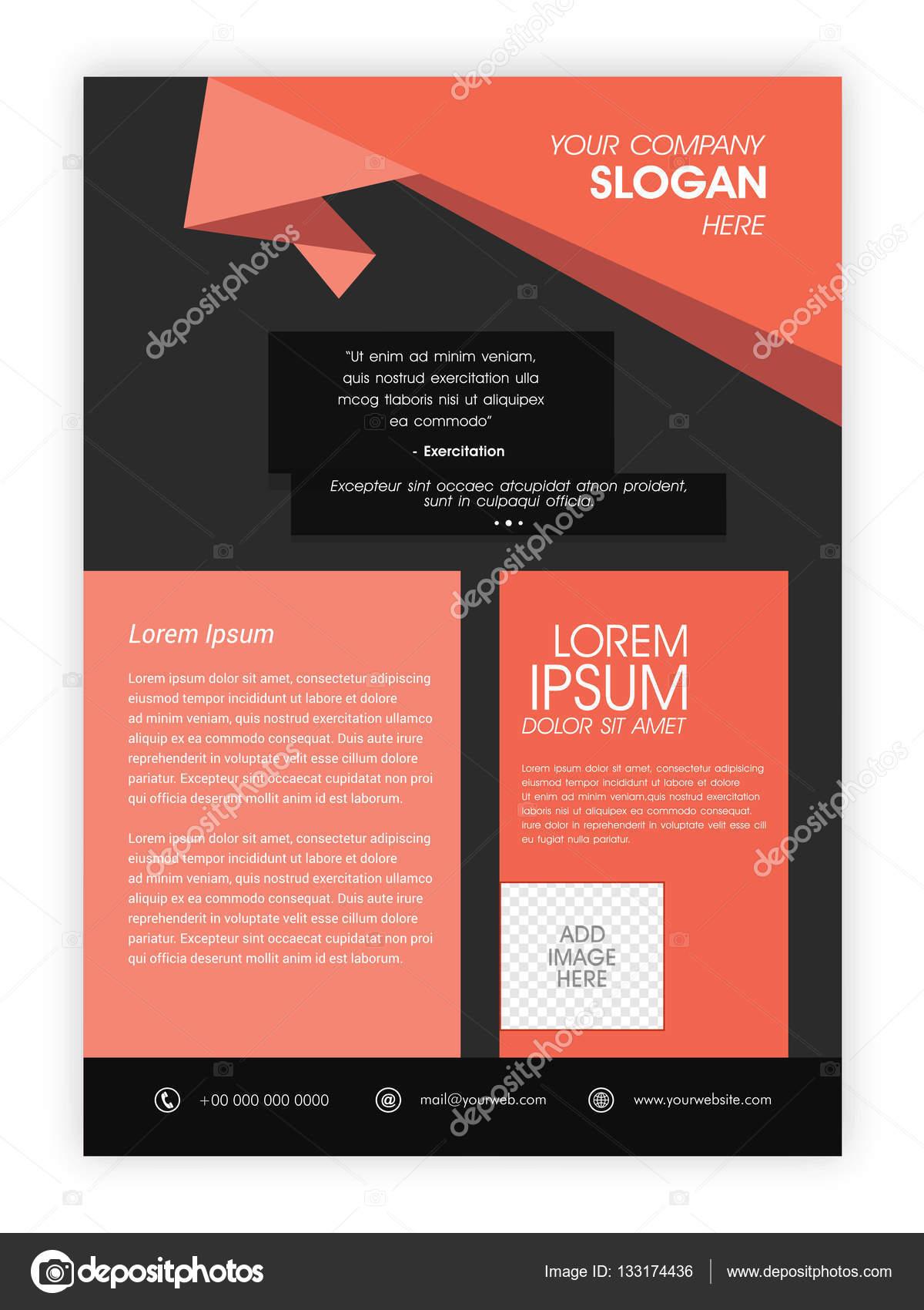 professional brochure template or flyer design stock vector