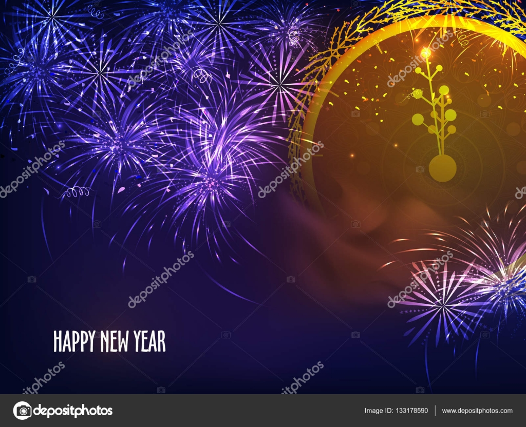 happy new year celebration background stock vector