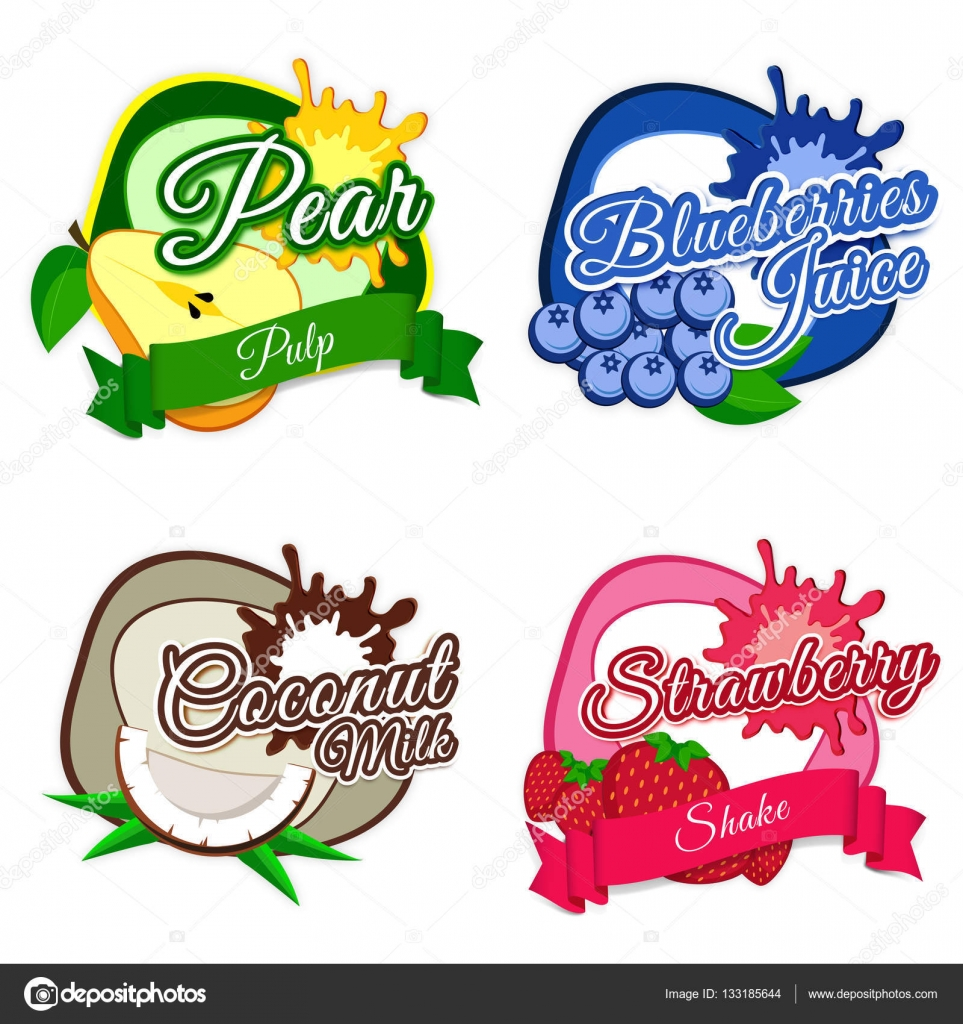 Dise o de etiquetas etiquetas o pegatinas de frutas fresco