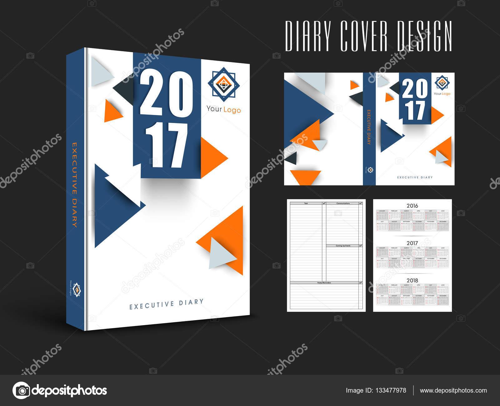 Tagebuch-Cover-Entwurf oder Vorlage layout — Stockvektor ...