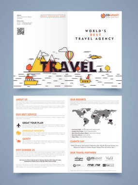 Tour and Travels Flyer, Banner or Template.