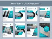 Sada návrhů obal brožury, šablonu nebo leták