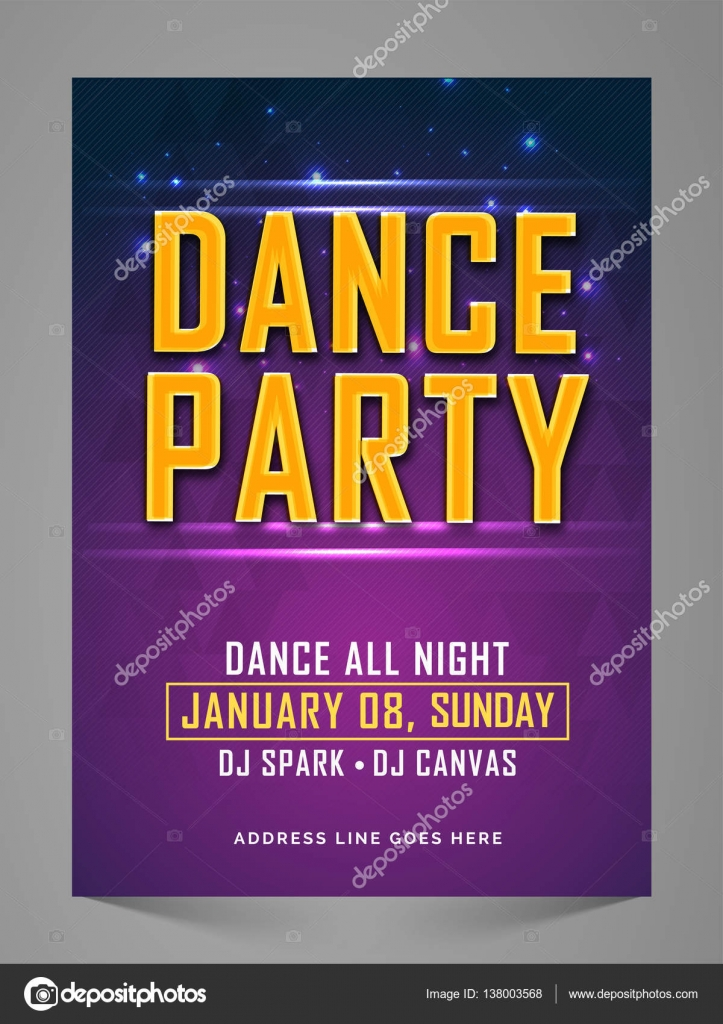 Dance Party Flyer, Banner, Invitation. — Stock Vector ...