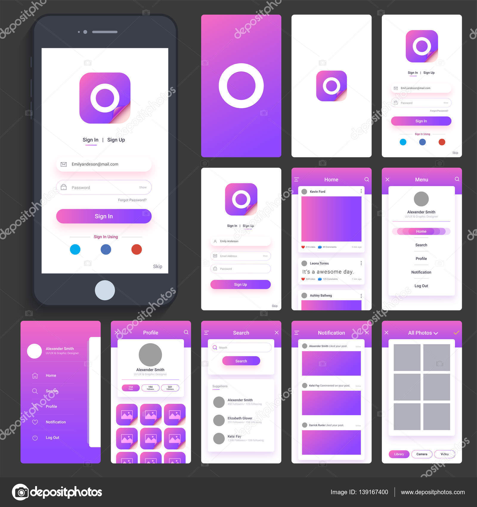 UI, UX and GUI for Mobile Apps  — Stock Vector © alliesinteract