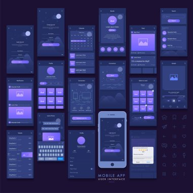 Mobile App User Interface kit.