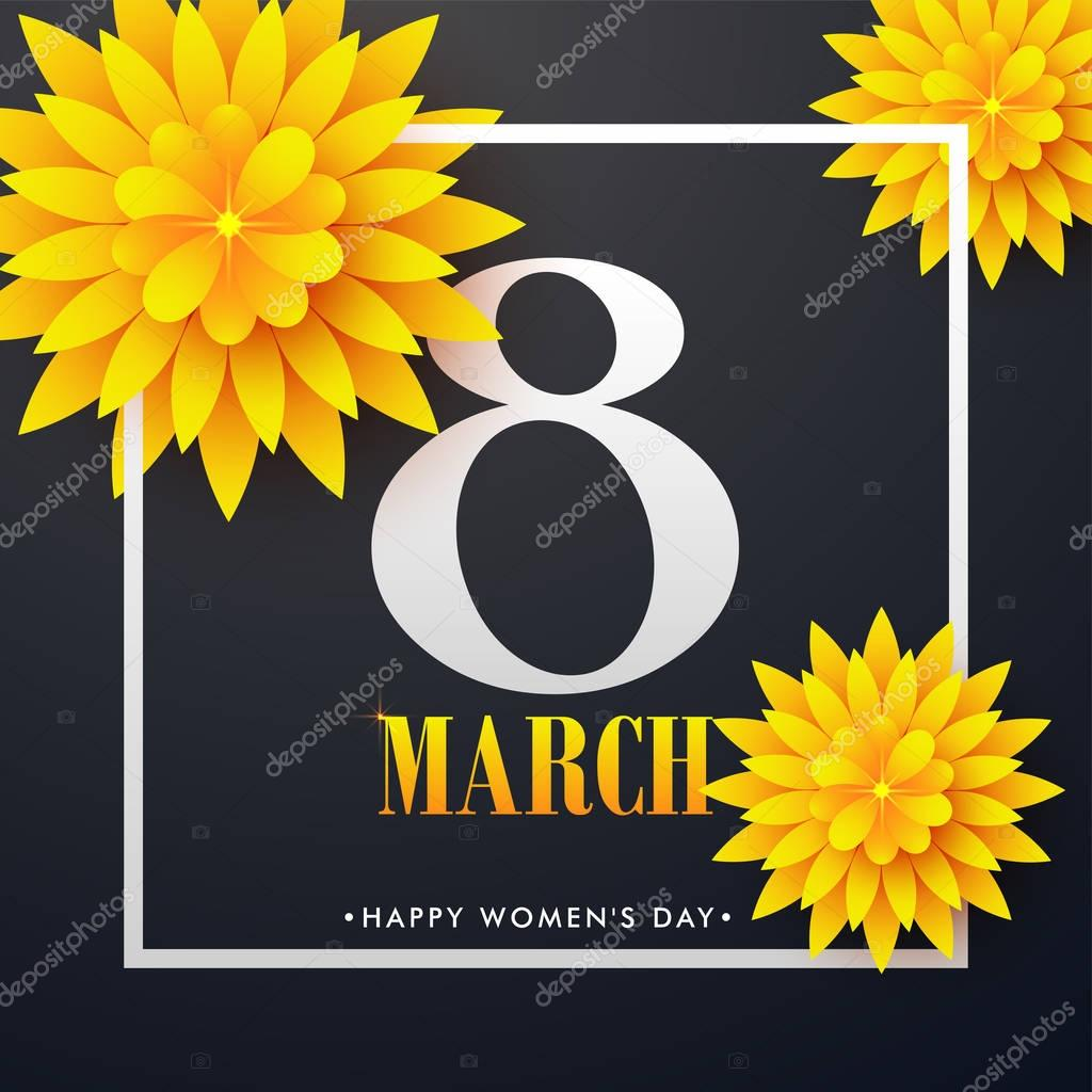 International Women's Day celebration greeting card design.