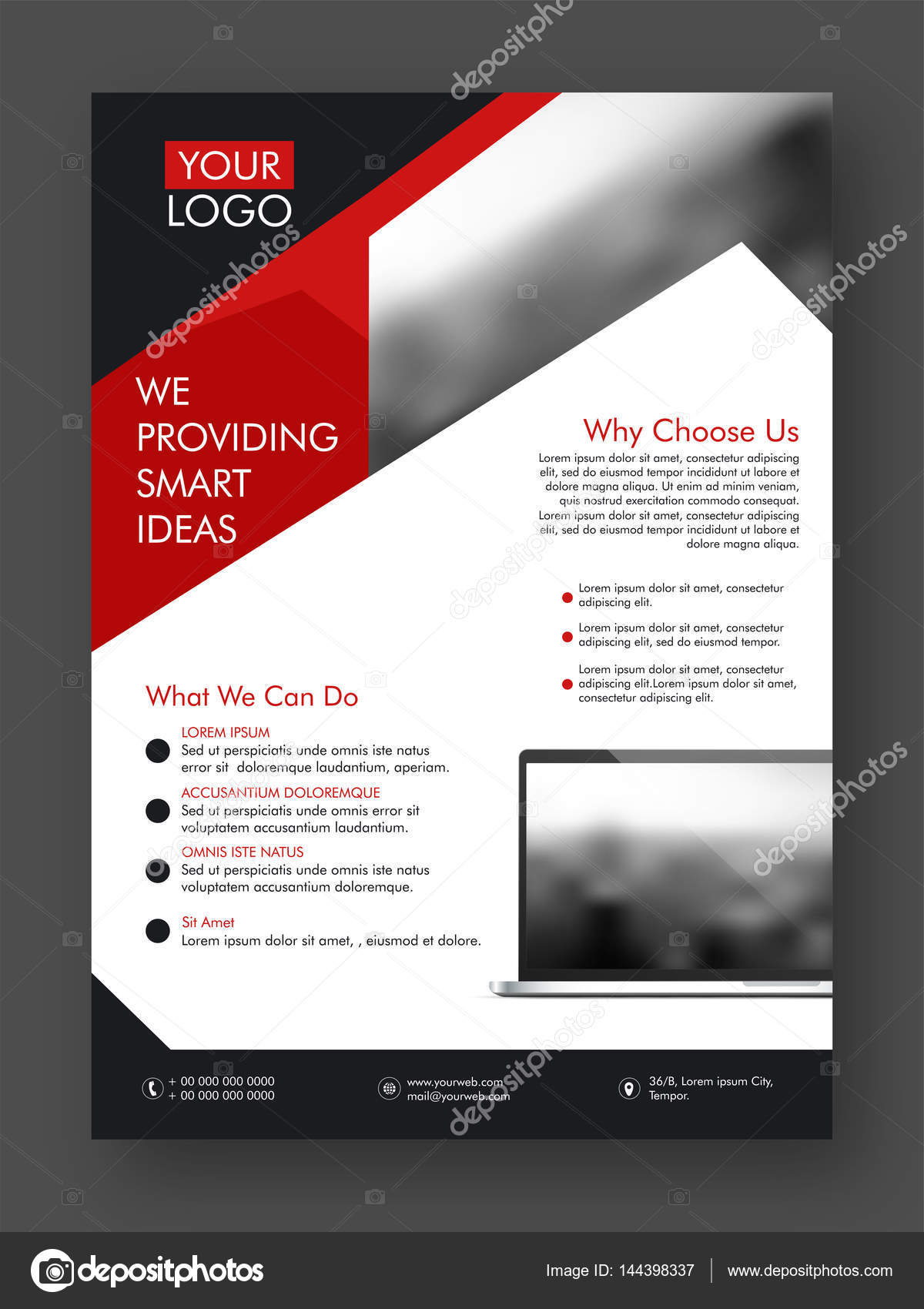 One Page Flyer Template Zrom