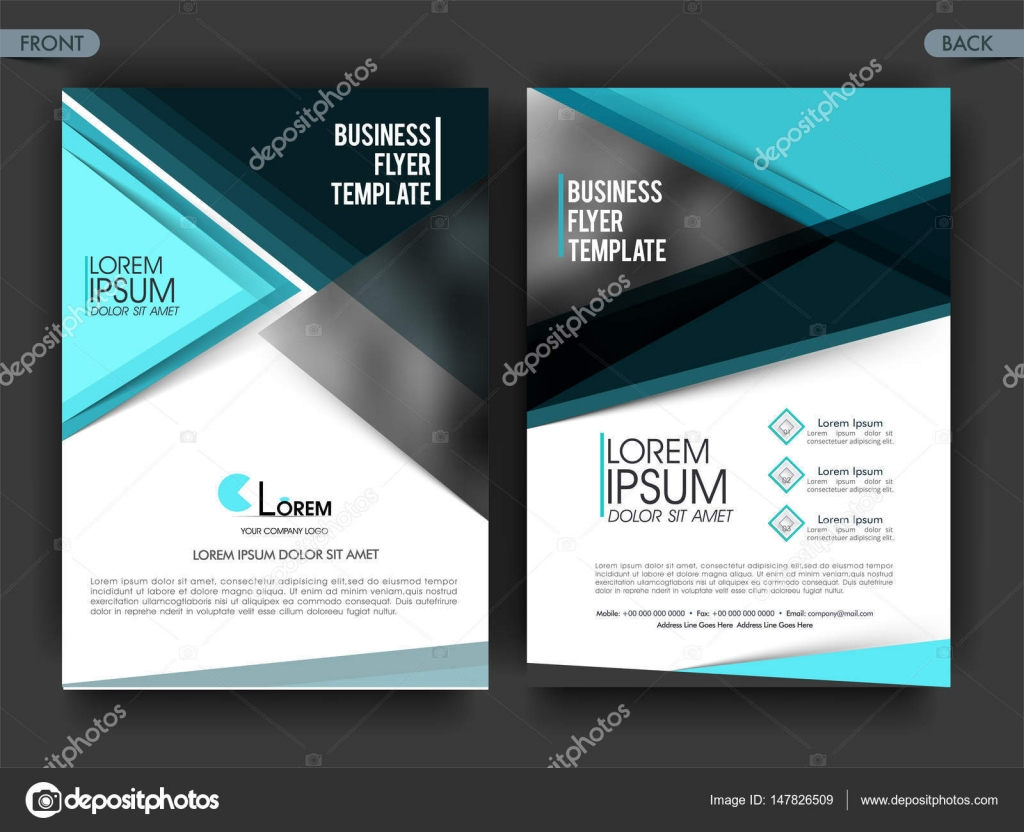 Two Page Business Flyer Template Or Brochure Design Stock Vector - Two page brochure template