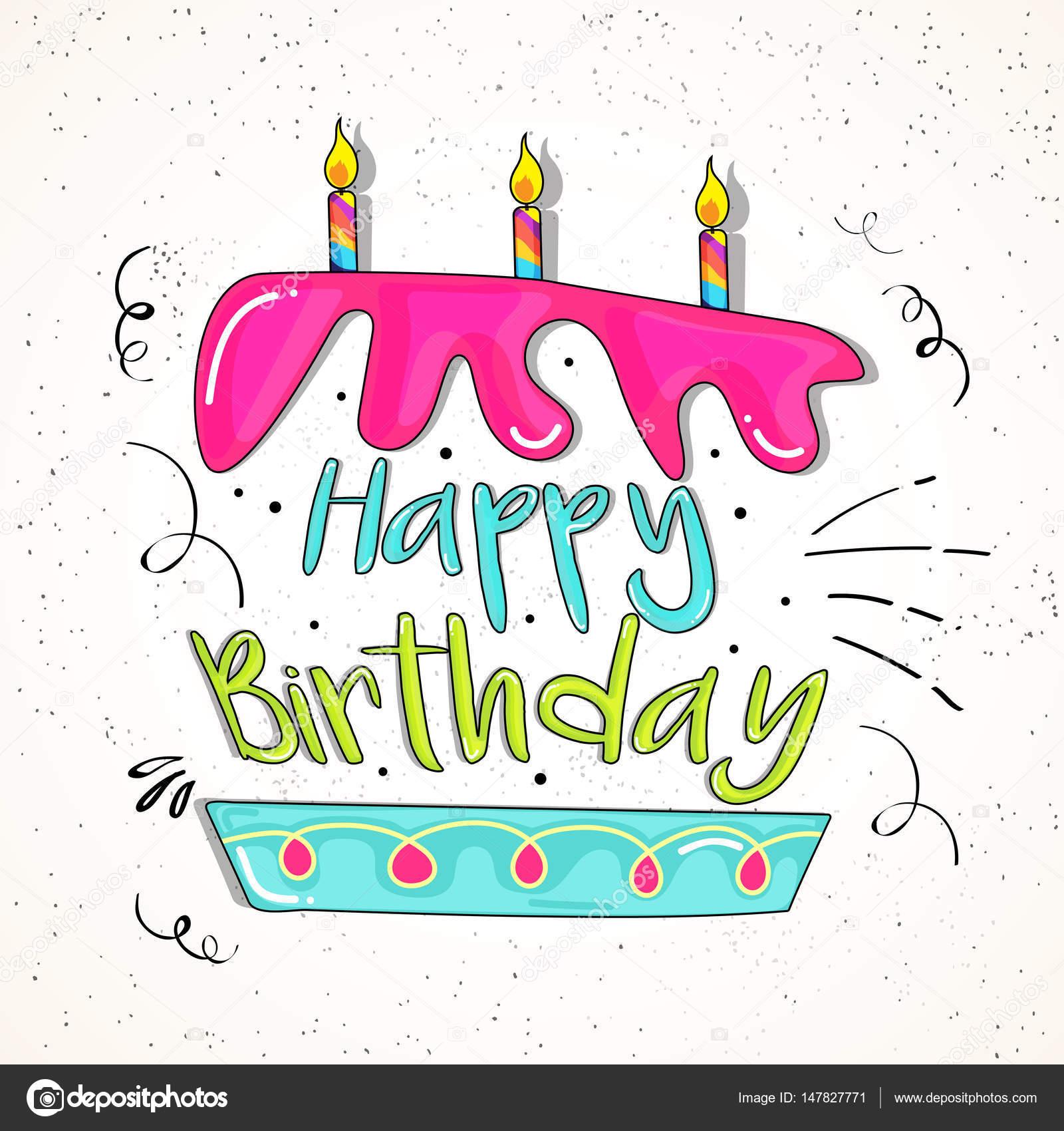 Texto De Cumpleaños Feliz En Forma De Pastel
