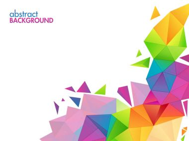 Creative abstract polygonal background.