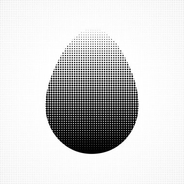 Easter egg background in halftone style.