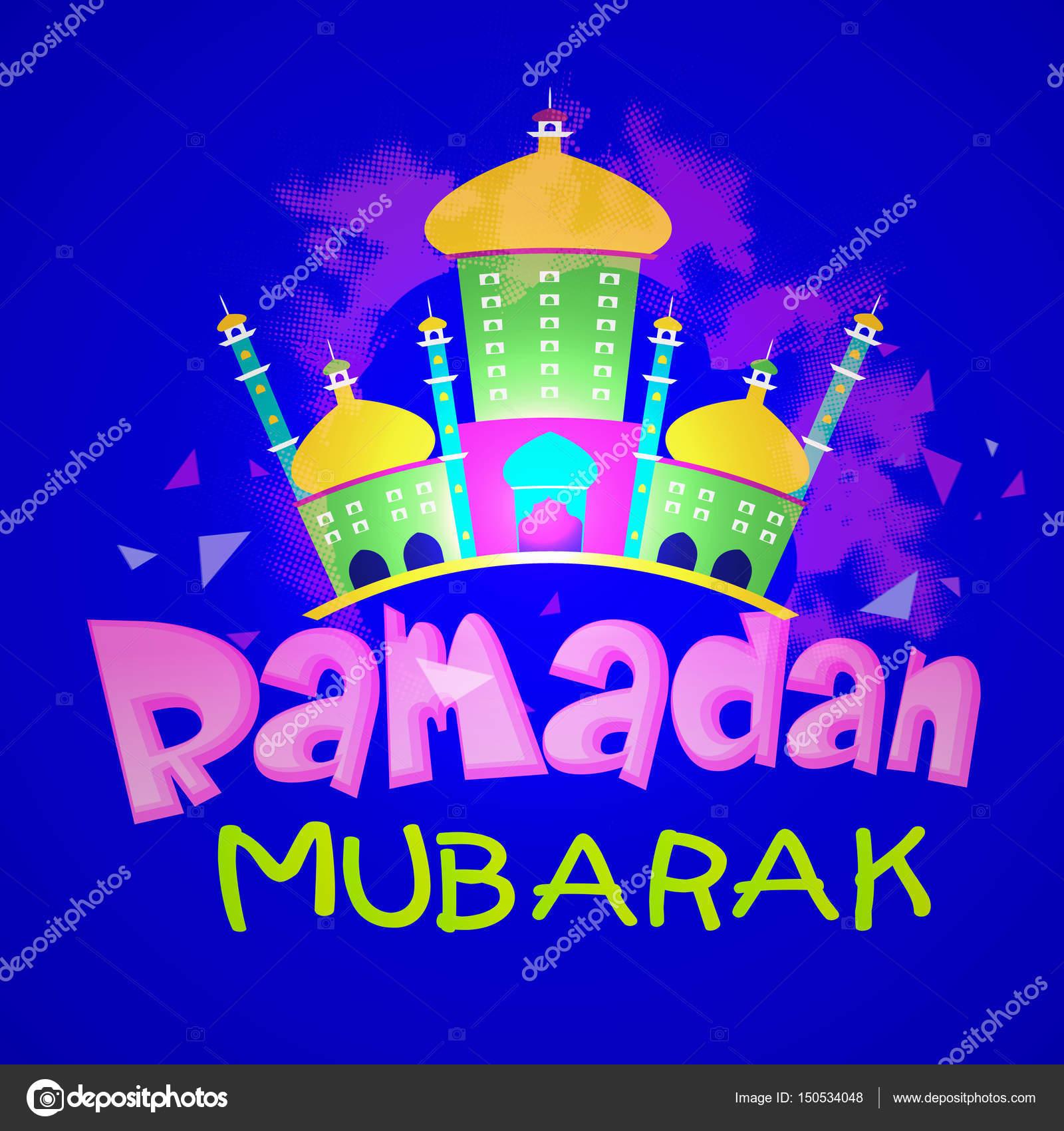 Ramadan mubarak greeting card with mosque stock vector ramadan mubarak greeting card with mosque stock vector m4hsunfo Choice Image