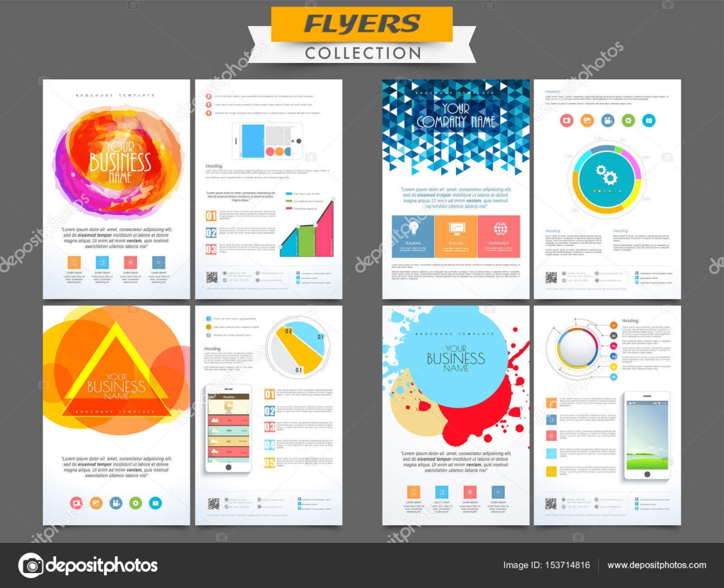 Creative Business Flyers Collection Stock Vector