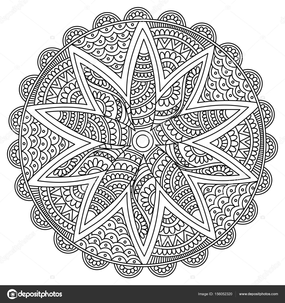 красивый цветок мандале дизайн векторное изображение