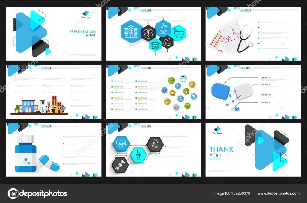 Gesundheit -Präsentation-Template-design — Stockvektor ...