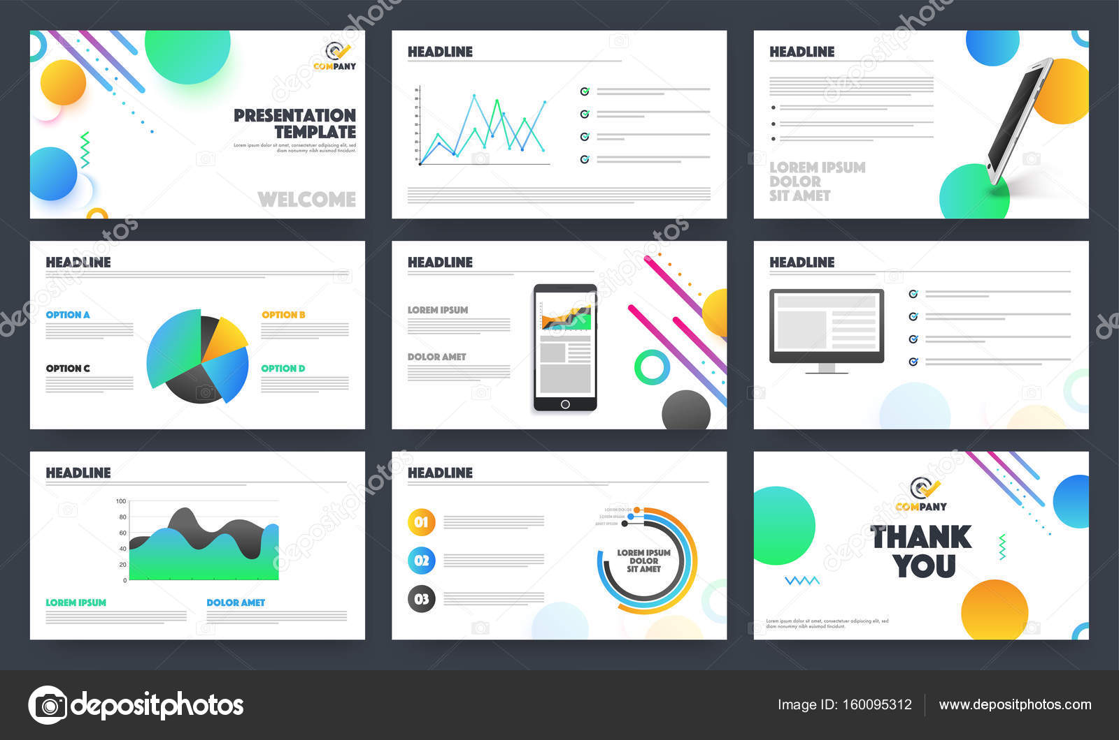Kreative Business Präsentation Vorlagen layout — Stockvektor ...