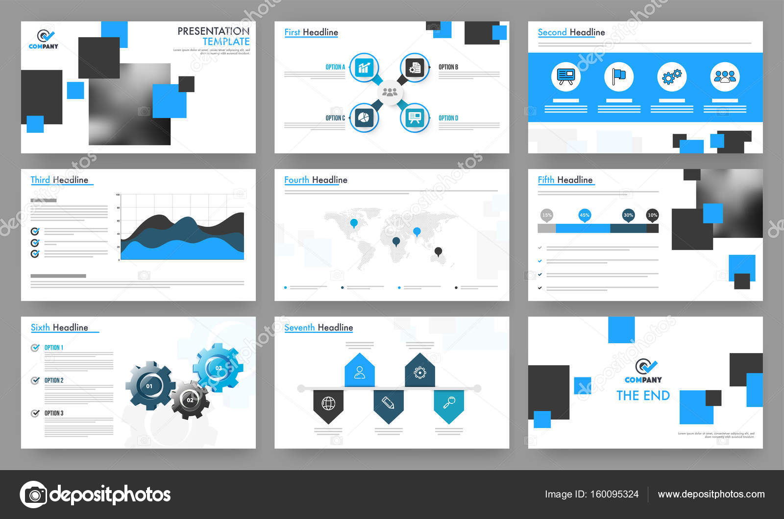 professional presentation templates for your business stock