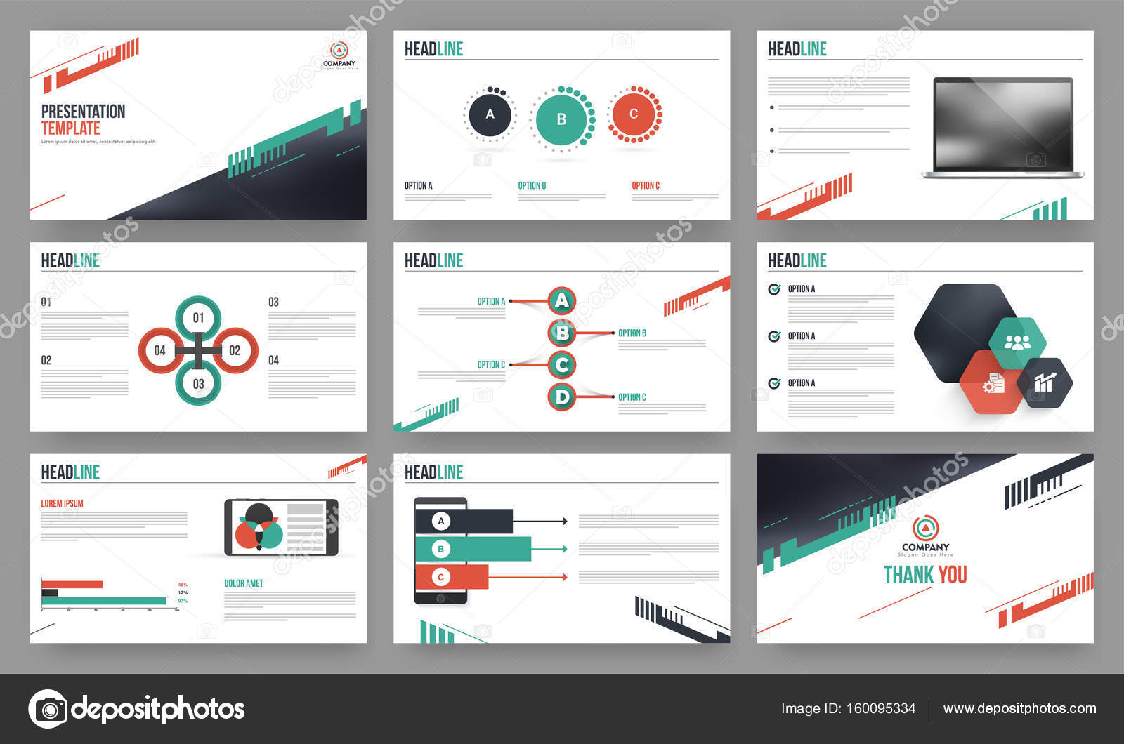 Modele De Presentation D Entreprise Avec Infographie Image Vectorielle Alliesinteract C 160095334