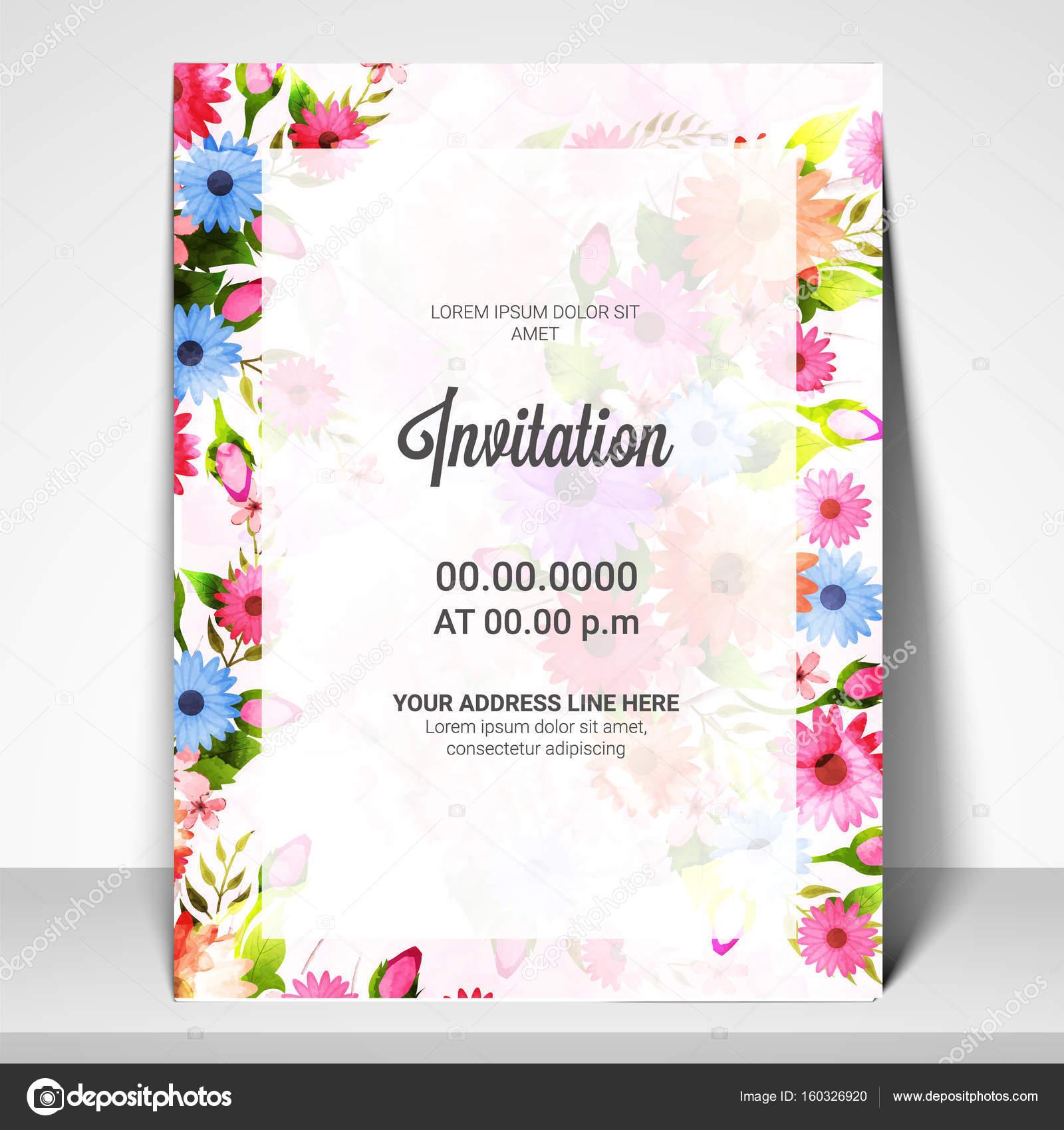 Belle carte d'invitation d'anniversaire