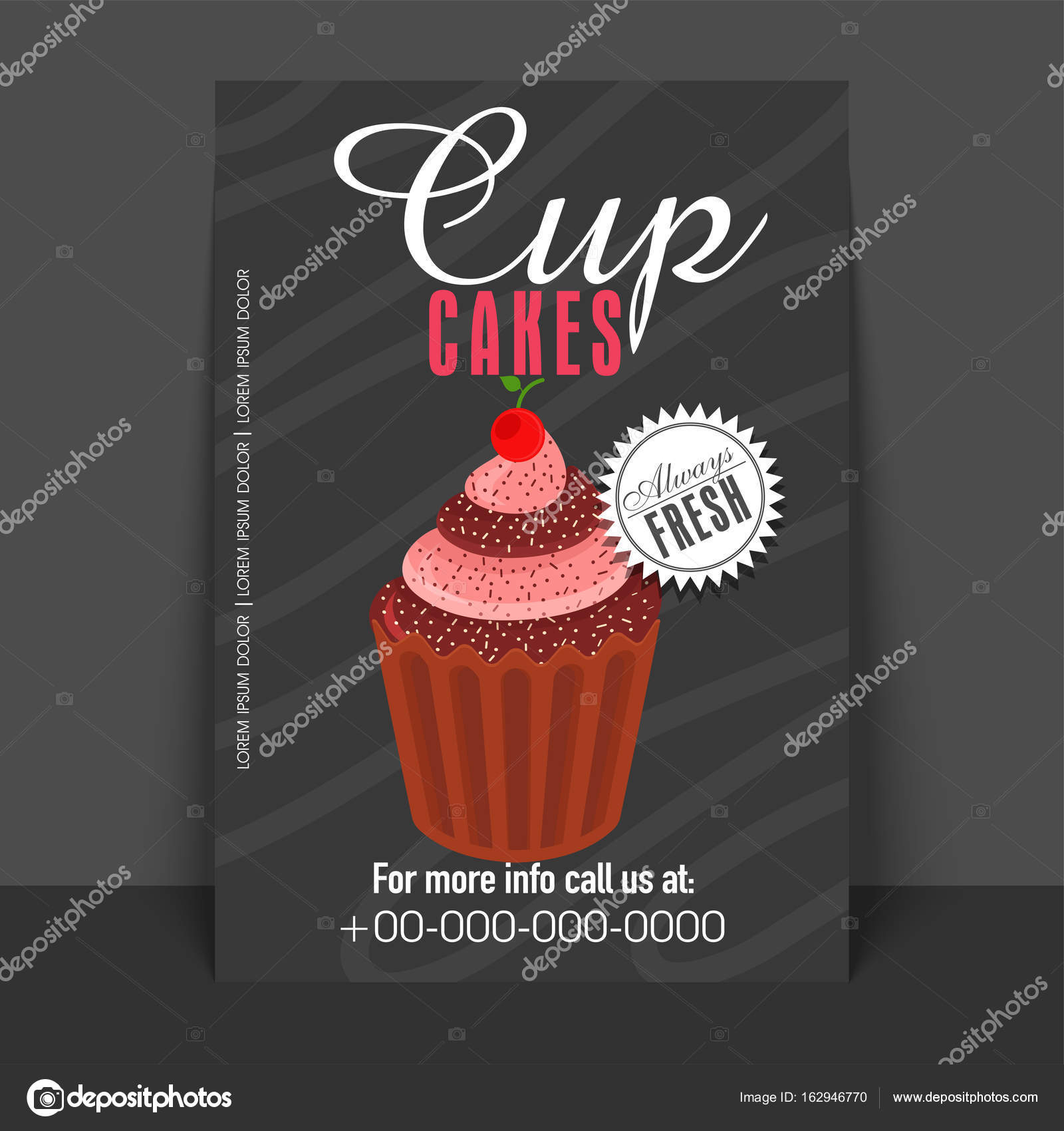 Bakery Flyer Template Or Banner Design With Illustration Of Sweet Delicious Cupcake Vector By Alliesinteract