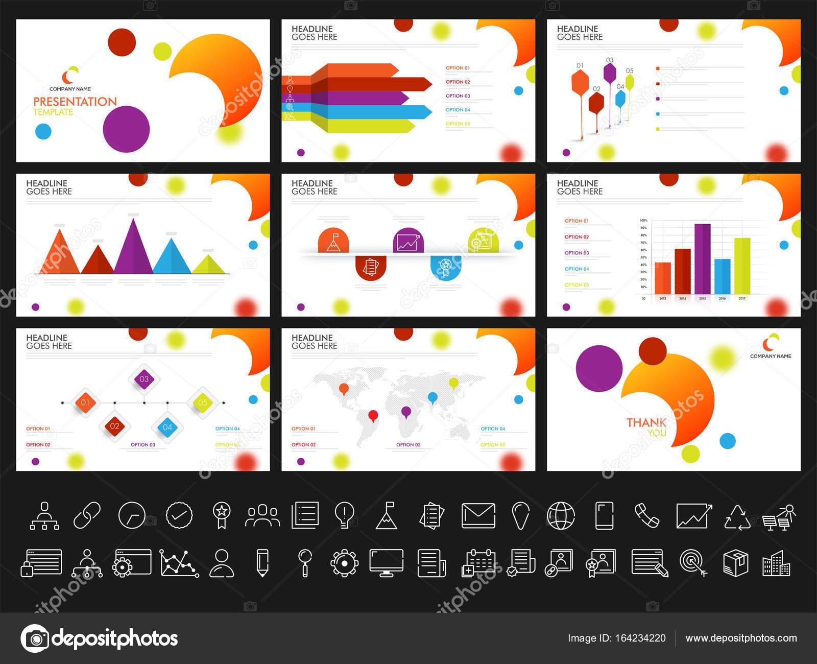Plantillas de presentación creativa para sus informes y pr — Vector ...