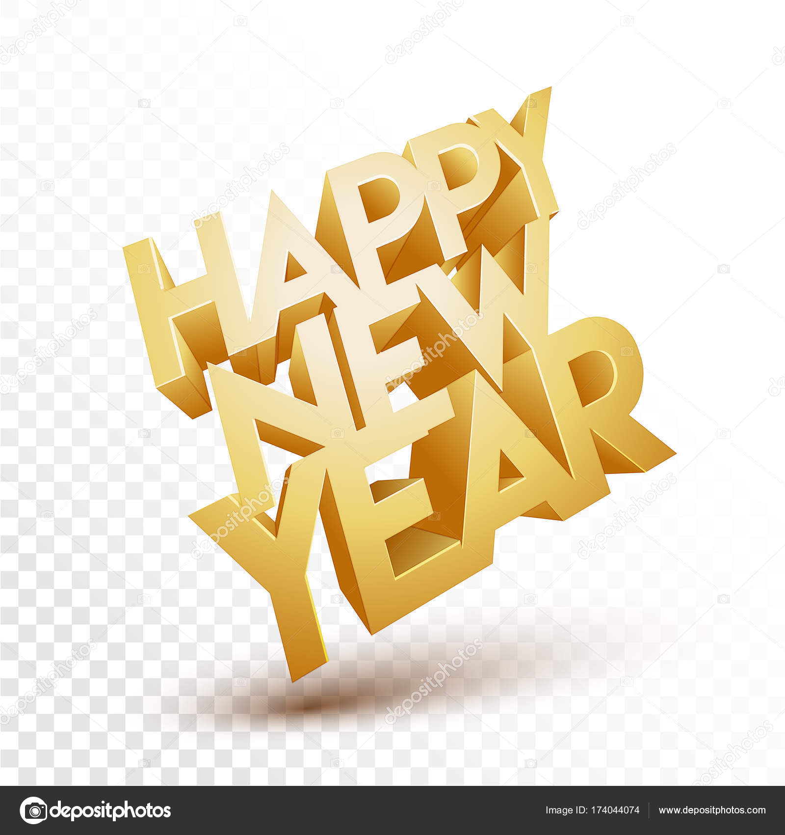 Happy New Year Transparent Background 7