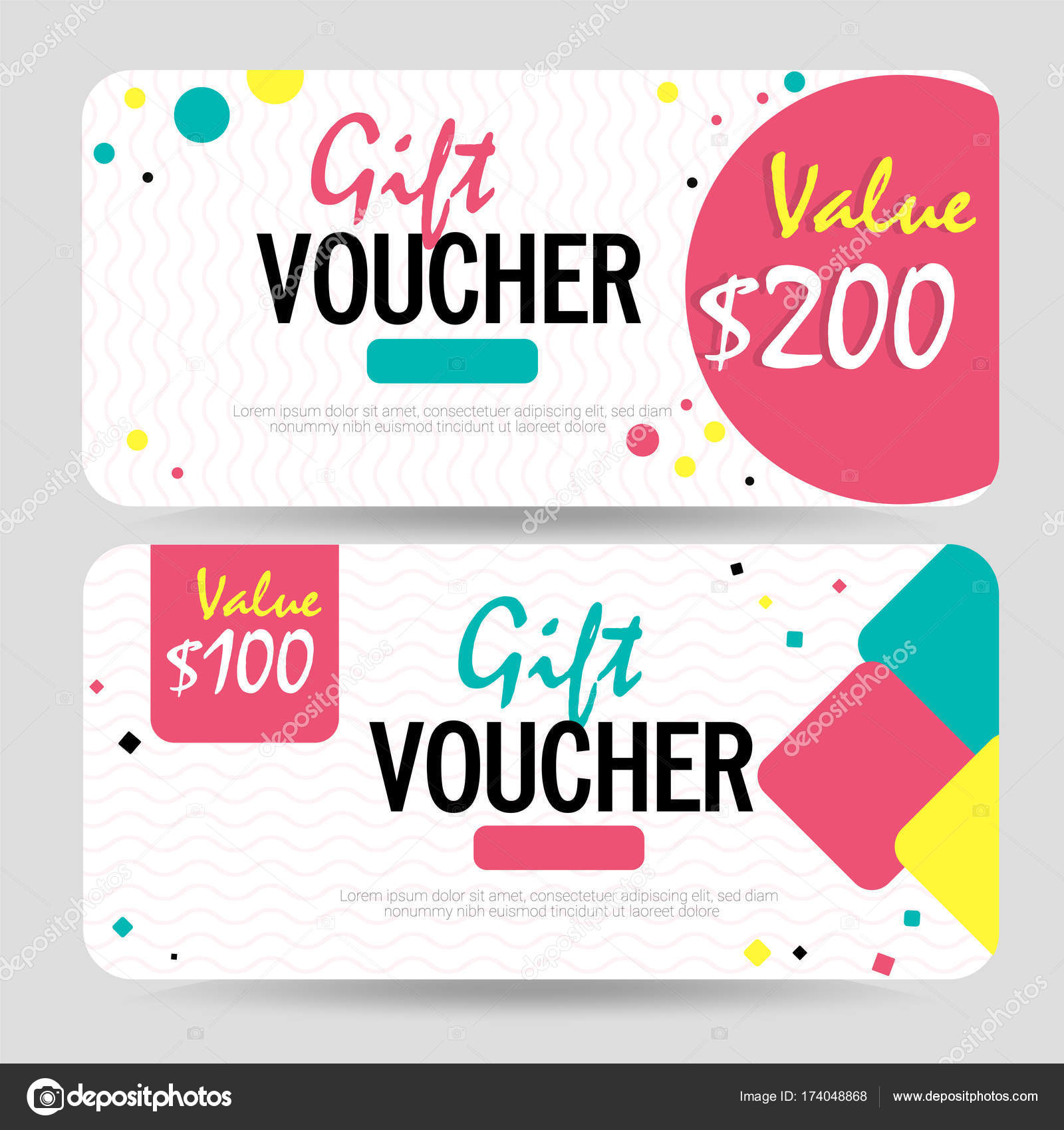 Creative Discount Voucher, Gift Card or Coupon template layout ...