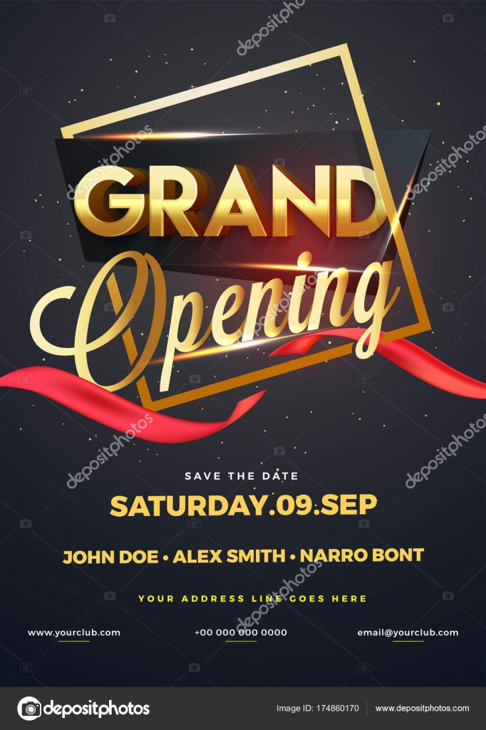 Grand Opening Invitation Examples Grand Opening Flyer Or