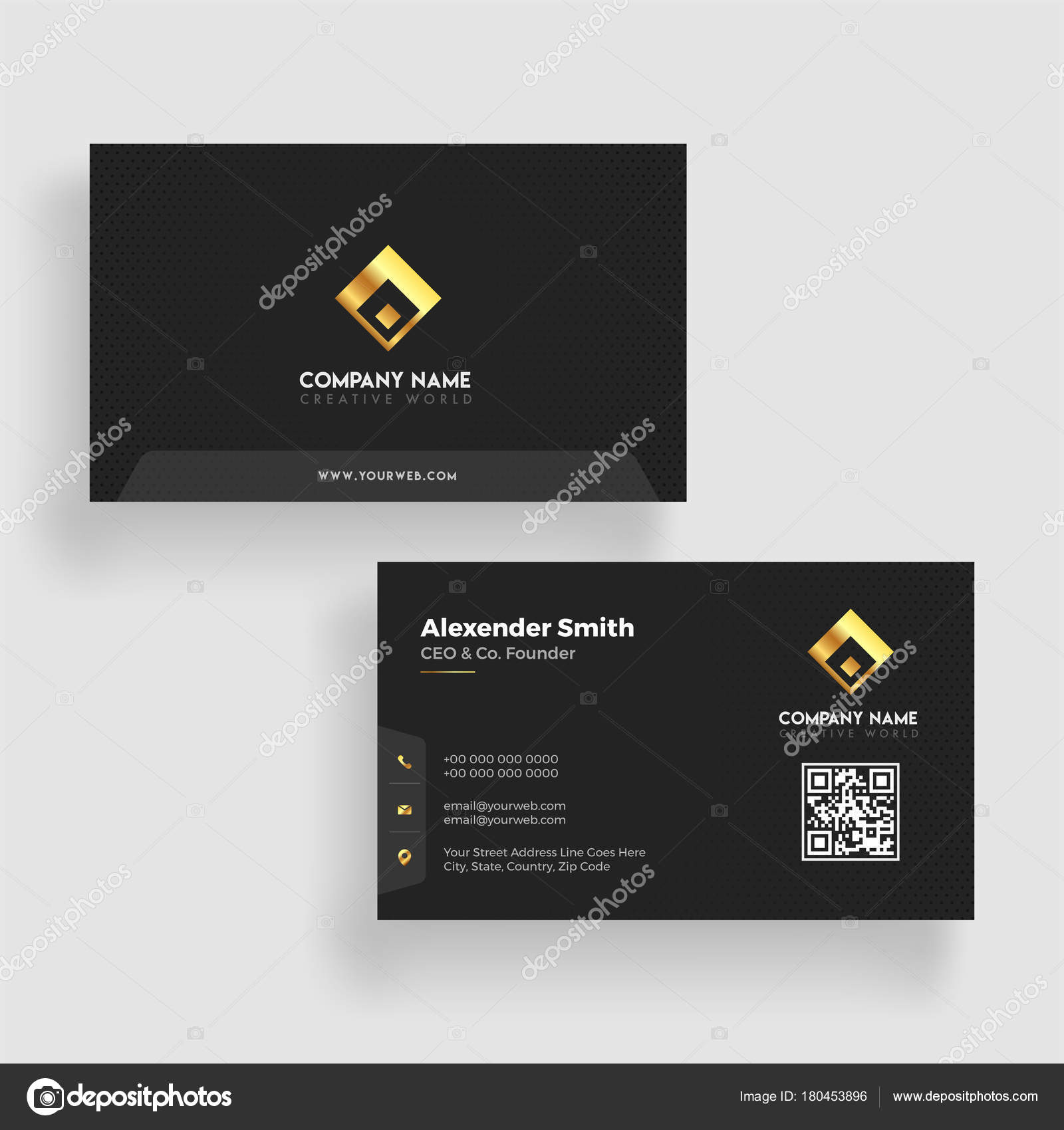 Modern business card template design both sided contact card f modern business card template design both sided contact card f stock vector accmission Gallery