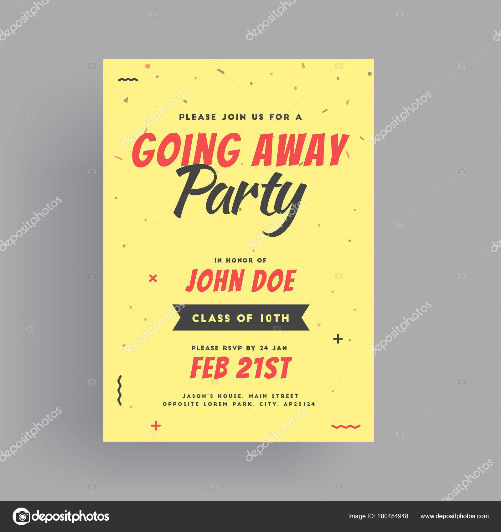 Farewell party banner or invitation card design stock vector farewell party banner or invitation card design stock vector stopboris Choice Image