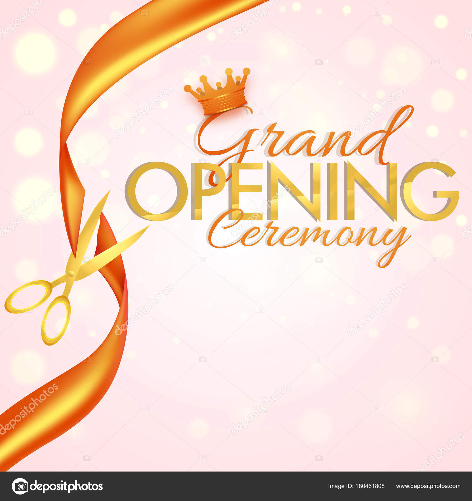 Grand Opening Flyer Or Invitation Card Stock Vector