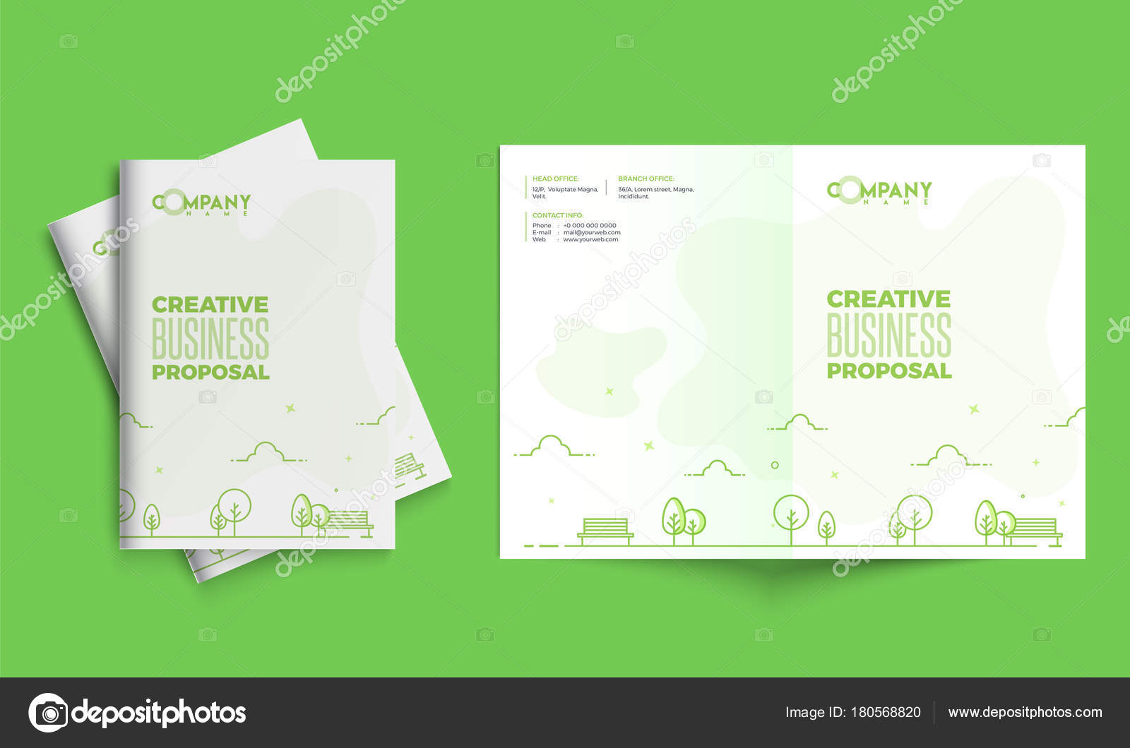 Kreative Business-Vorschlag-Design, Corporate Vorlage Layout Witz ...