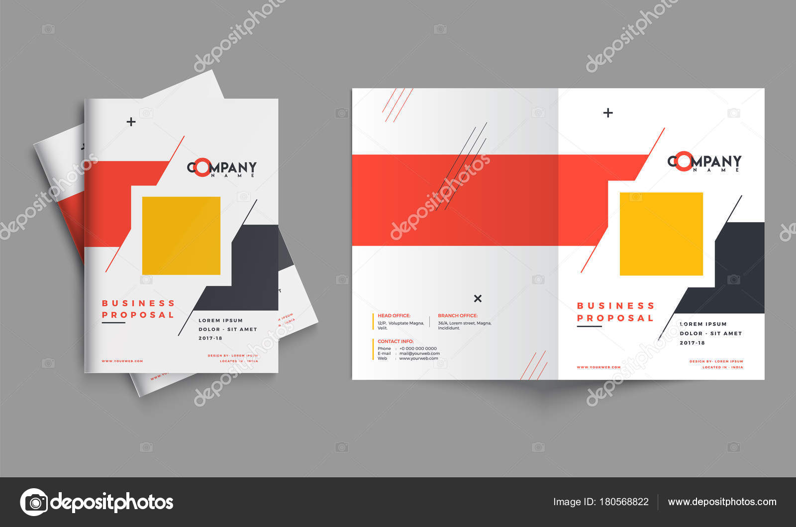 creative business proposal design corporate template layout wit stock vector