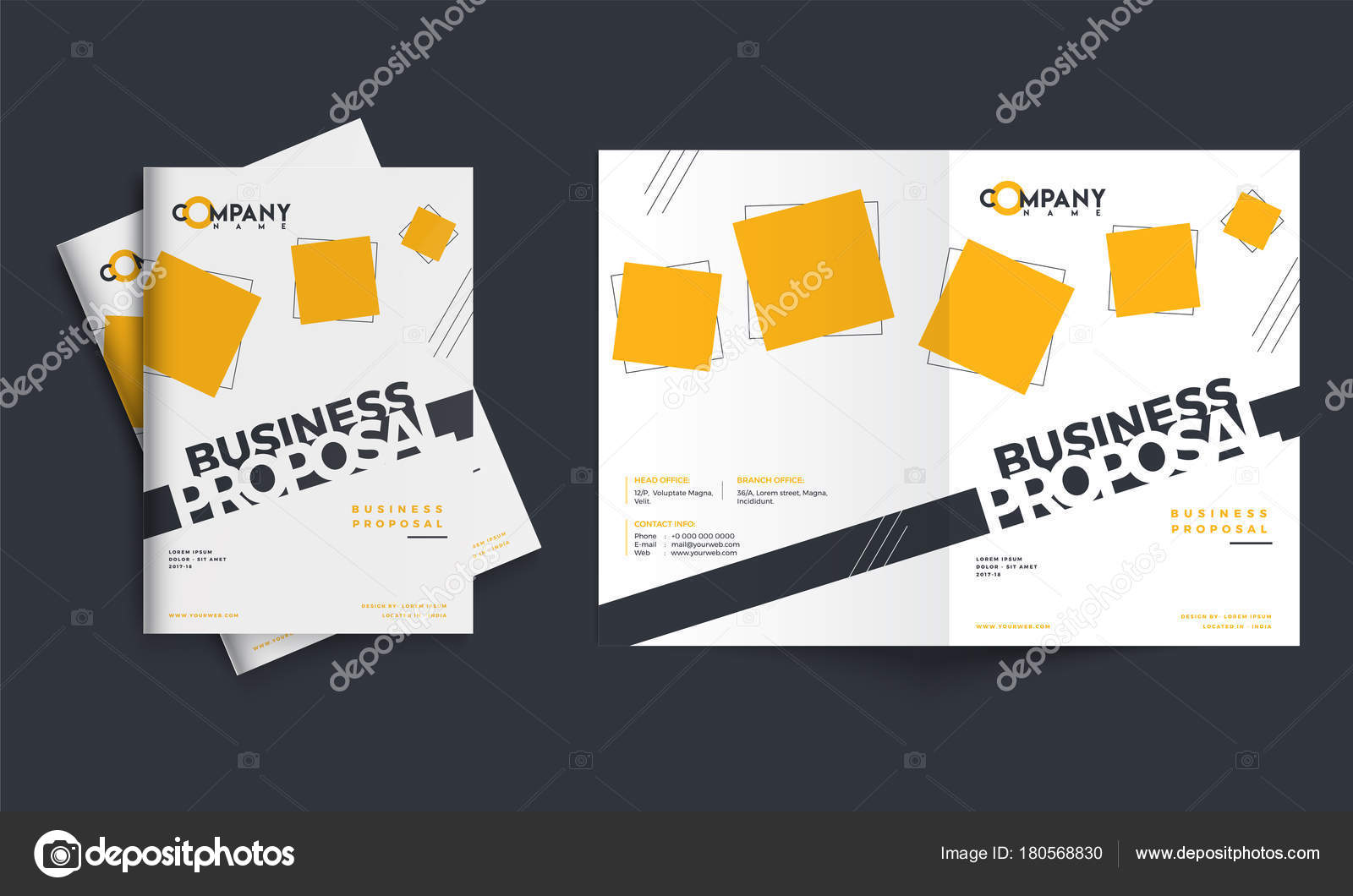 Creative business proposal design corporate template layout wit creative business proposal design corporate template layout wit stock vector flashek Image collections