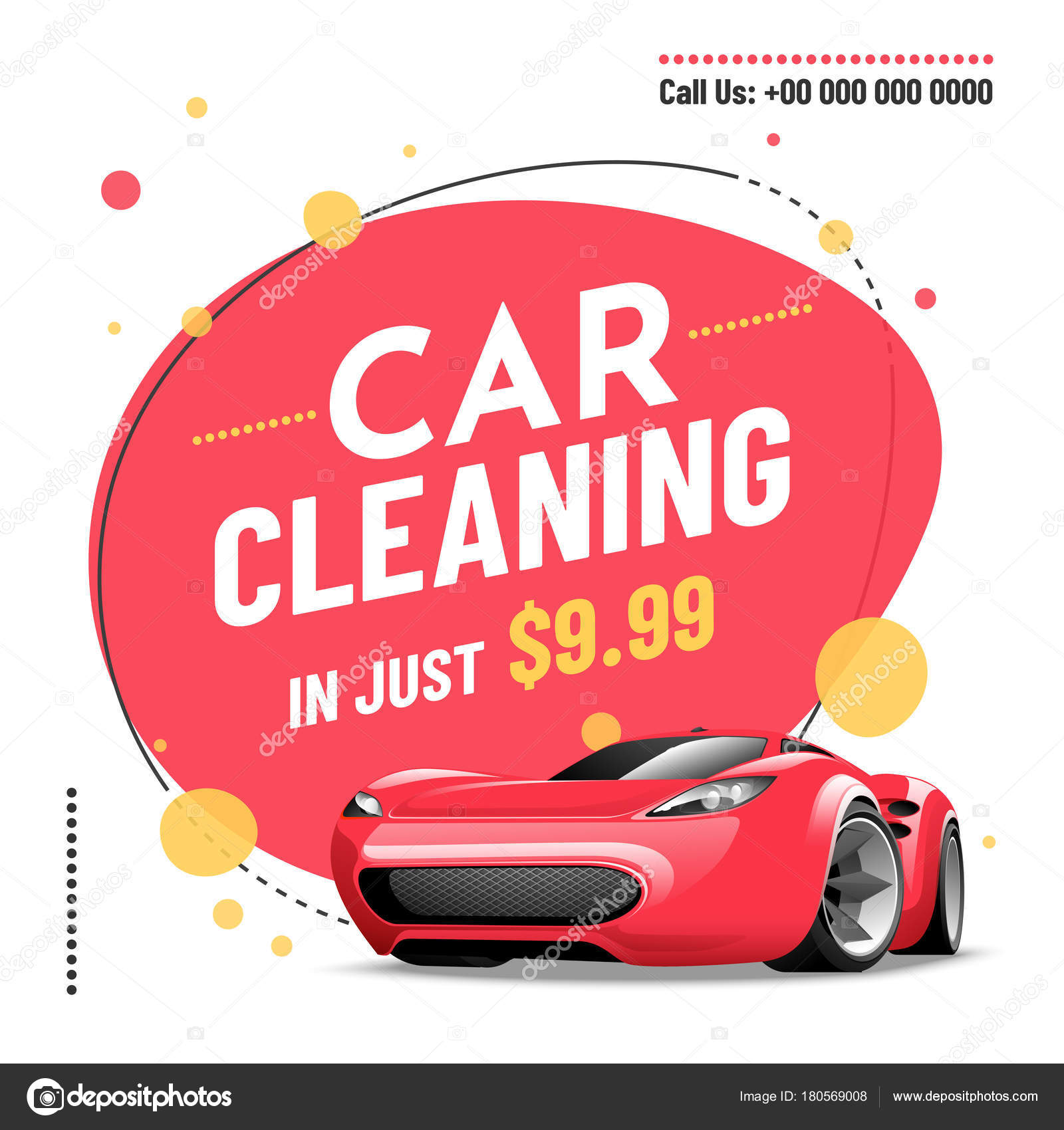 car wash service banner poster flyer or rate card design for y