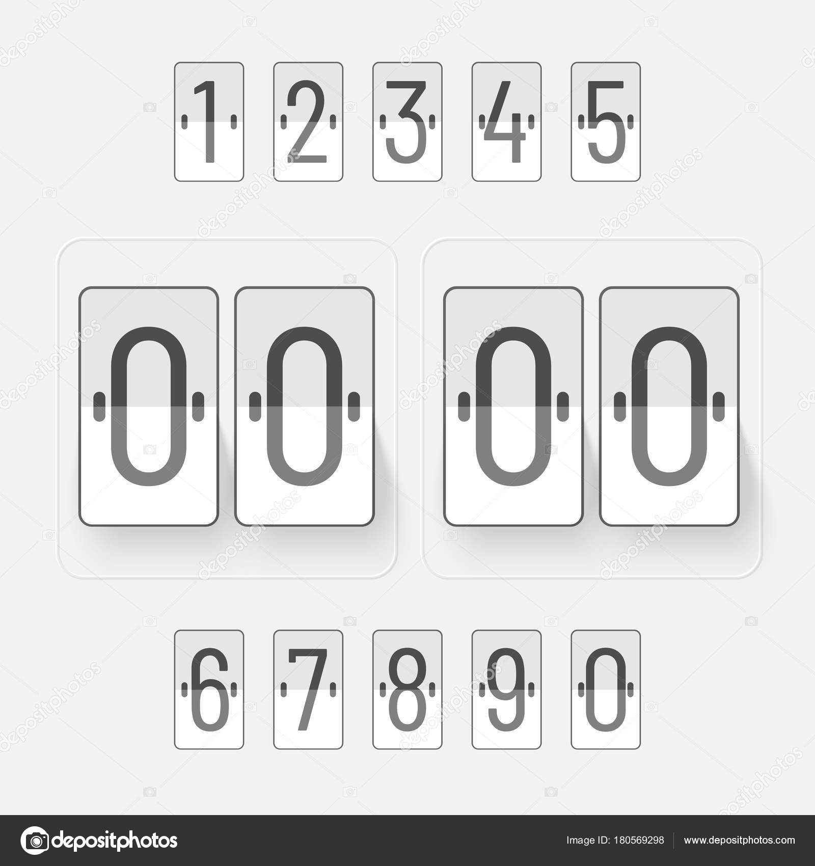 Countdown-Website, digitale Zeitschaltuhr in metallic-Farbe Hinterg ...