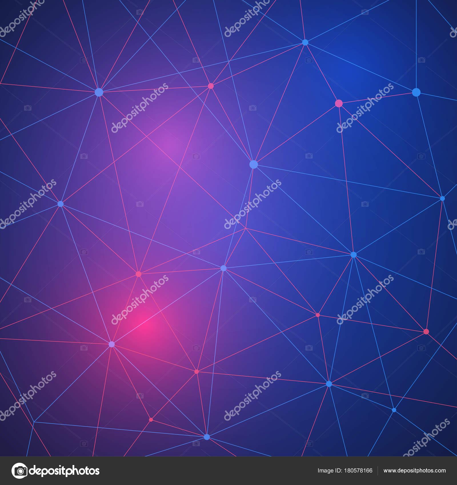 Blockchain concepto de red, distribuidos contabilidad, conexión de ...