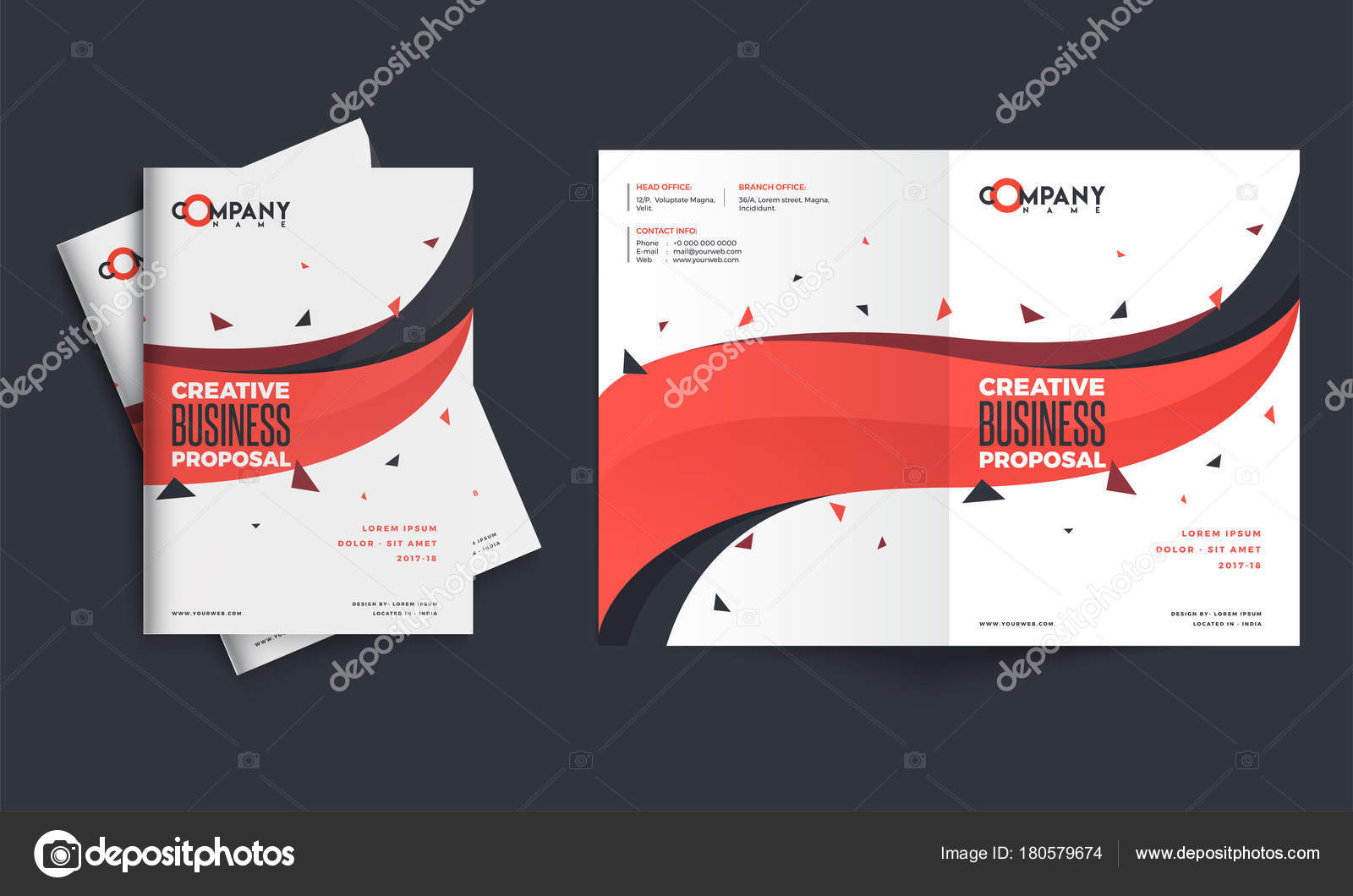 Creative Business Proposal Design Corporate Template Layout Wit