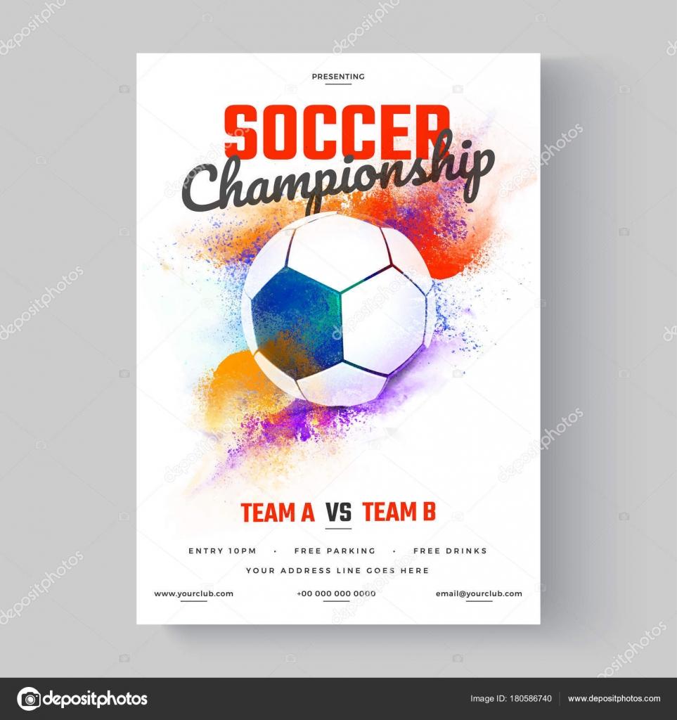 Fußball, Fußball WM, Flyer oder Poster Design auf Farbe ...