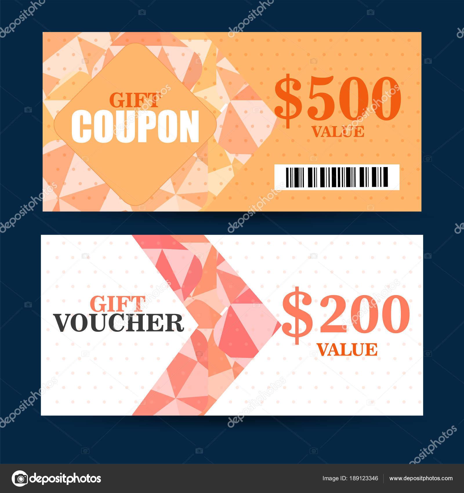 Geschenk-Gutschein, Zertifikat, Rabatt-Karte oder Gutschein Vorlage ...