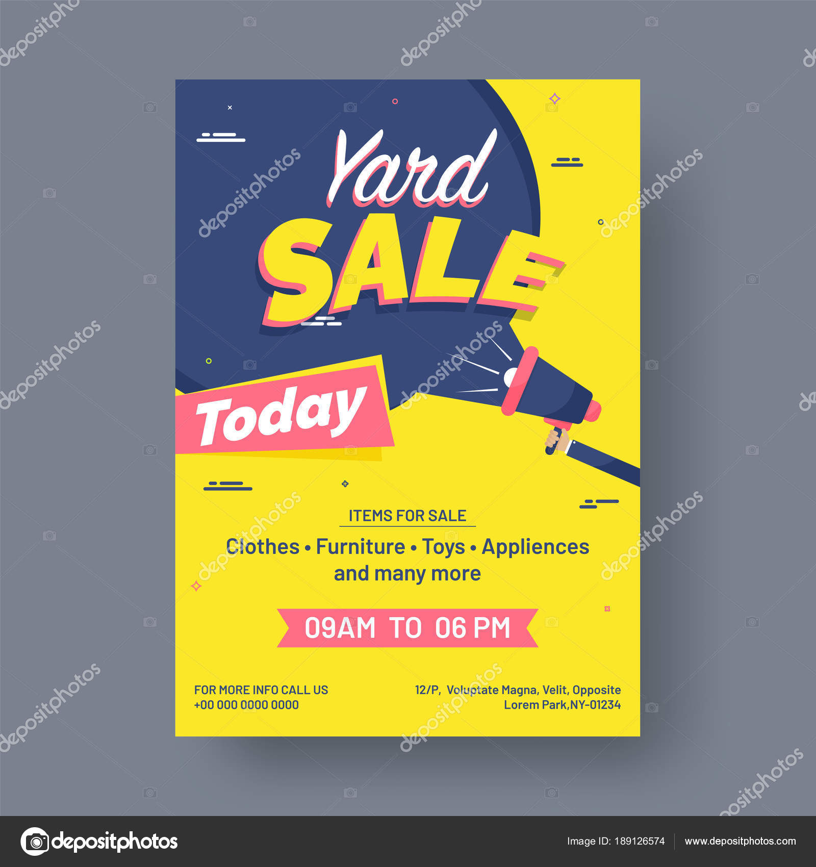 Garage oder Hof verkaufen Event Ankündigung druckbare Poster oder ...
