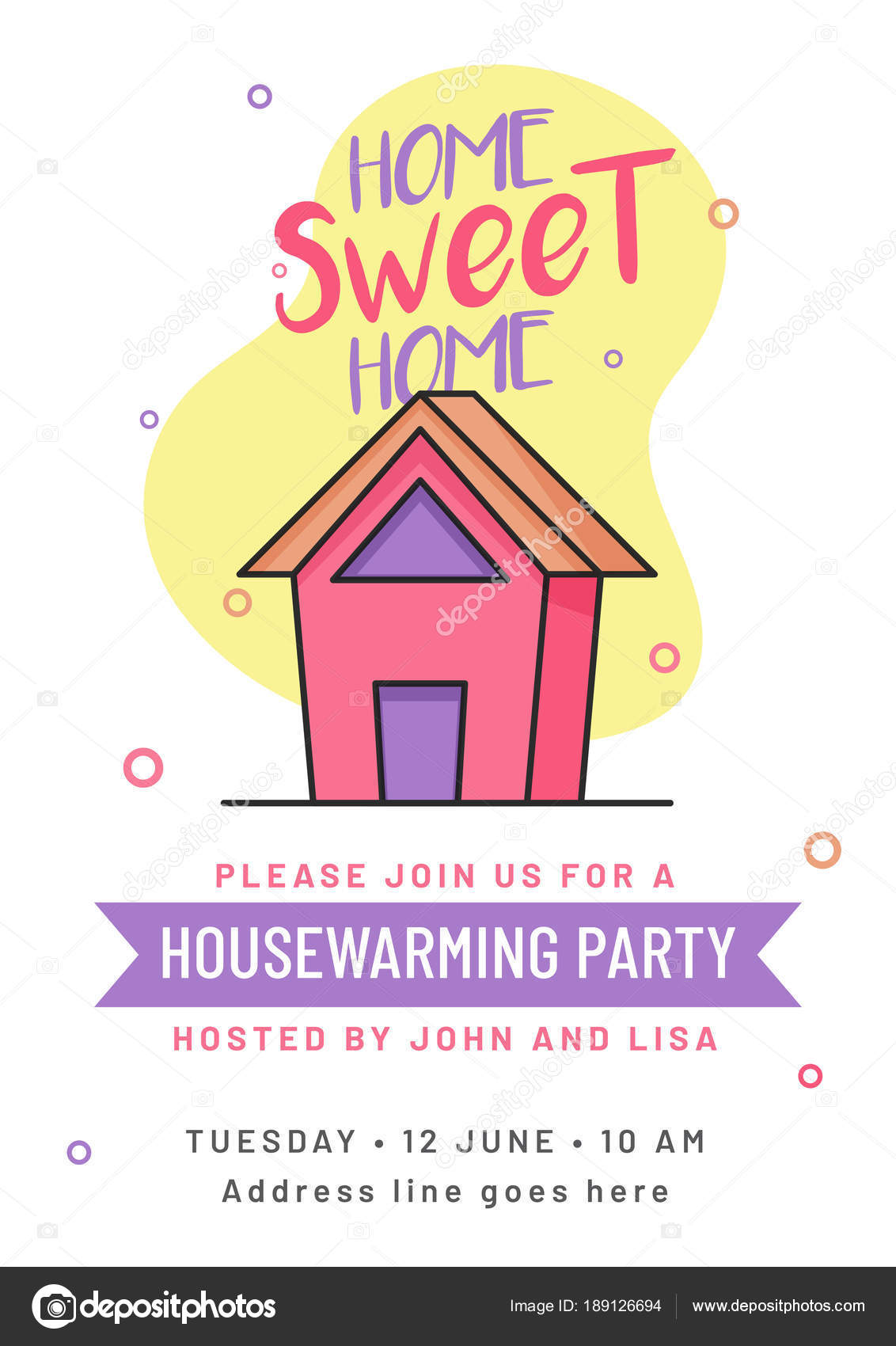 Housewarming party invitation card design stock vector housewarming party invitation card design stock vector stopboris Gallery